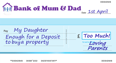 Bank of Mum and Dad Cheque